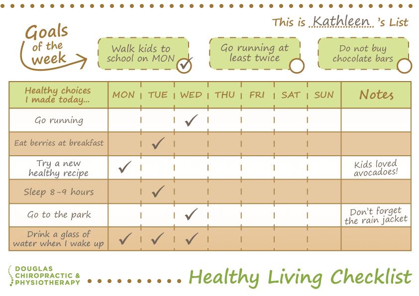 Healthy Living Checklist