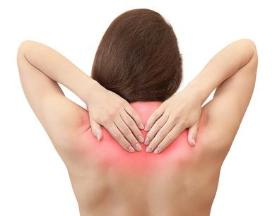Upper back pain woman